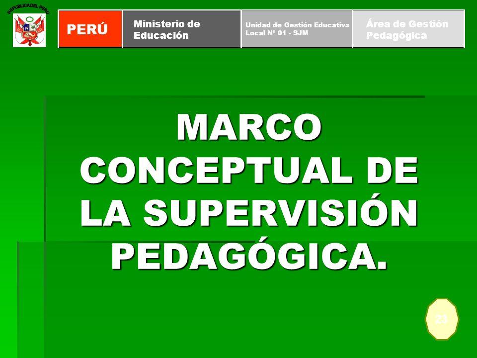 MARCO CONCEPTUAL DE LA SUPERVISIÓN PEDAGÓGICA.