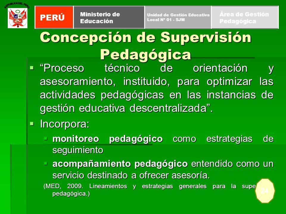 Concepción de Supervisión Pedagógica