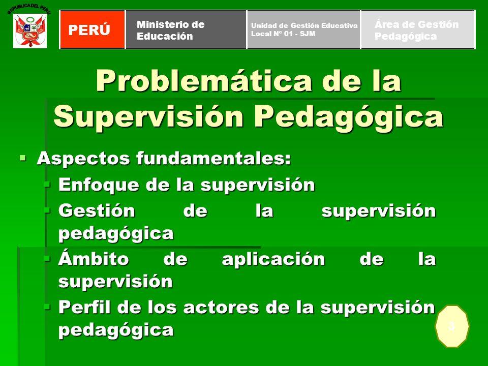 Problemática de la Supervisión Pedagógica