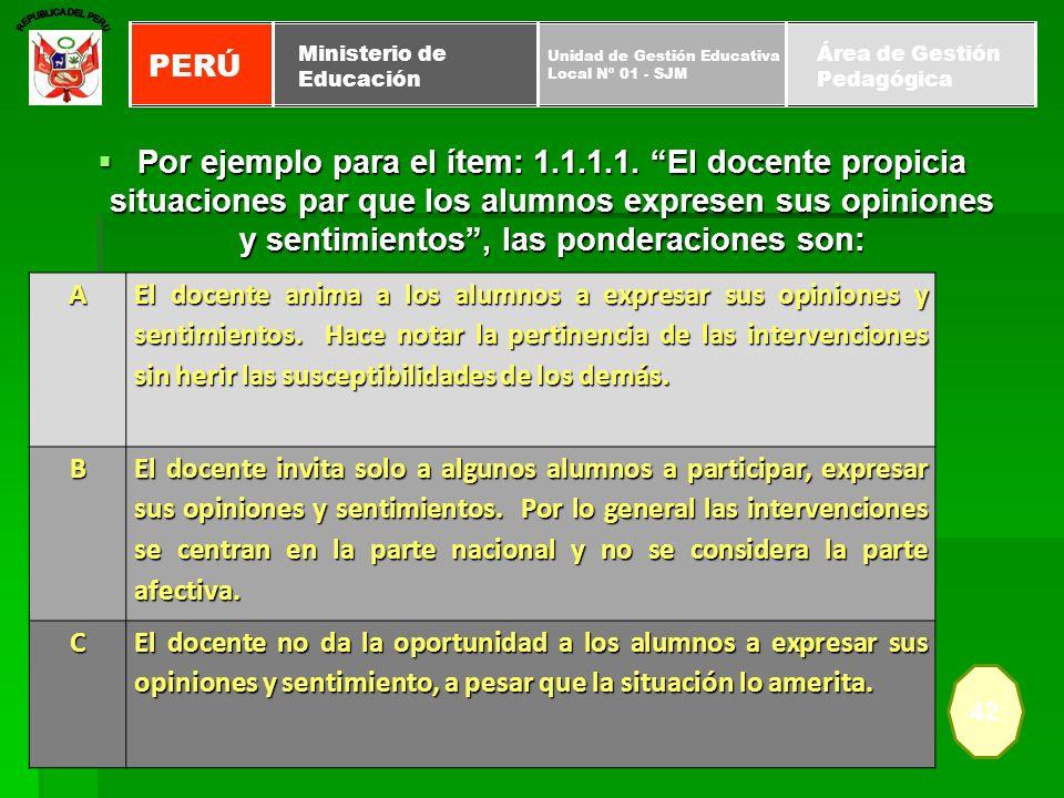 REPUBLICA DEL PERUPERÚ. Unidad de Gestión Educativa. Local Nº 01 - SJM. Ministerio de. Educación. Área de Gestión.