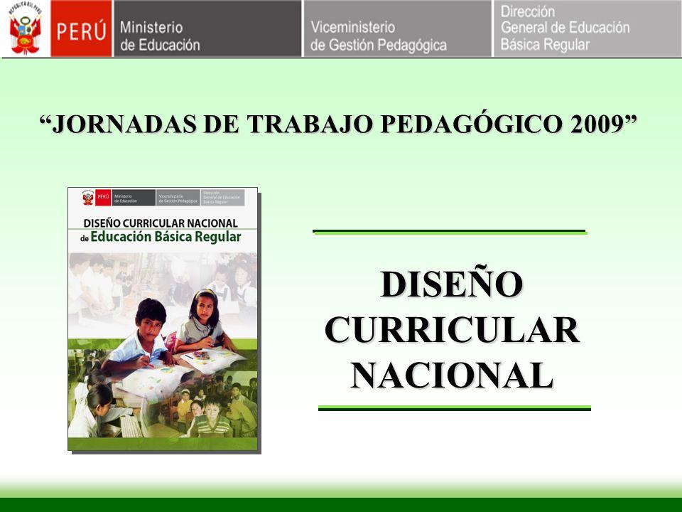 JORNADAS DE TRABAJO PEDAGÓGICO 2009 DISEÑO CURRICULAR NACIONAL