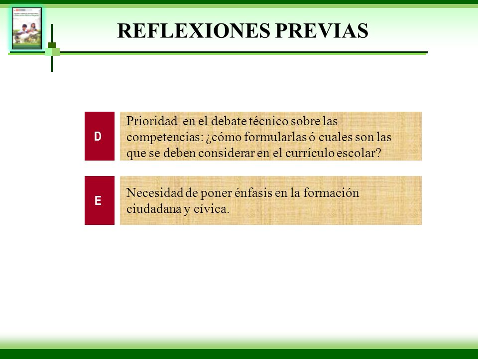 REFLEXIONES PREVIAS D.