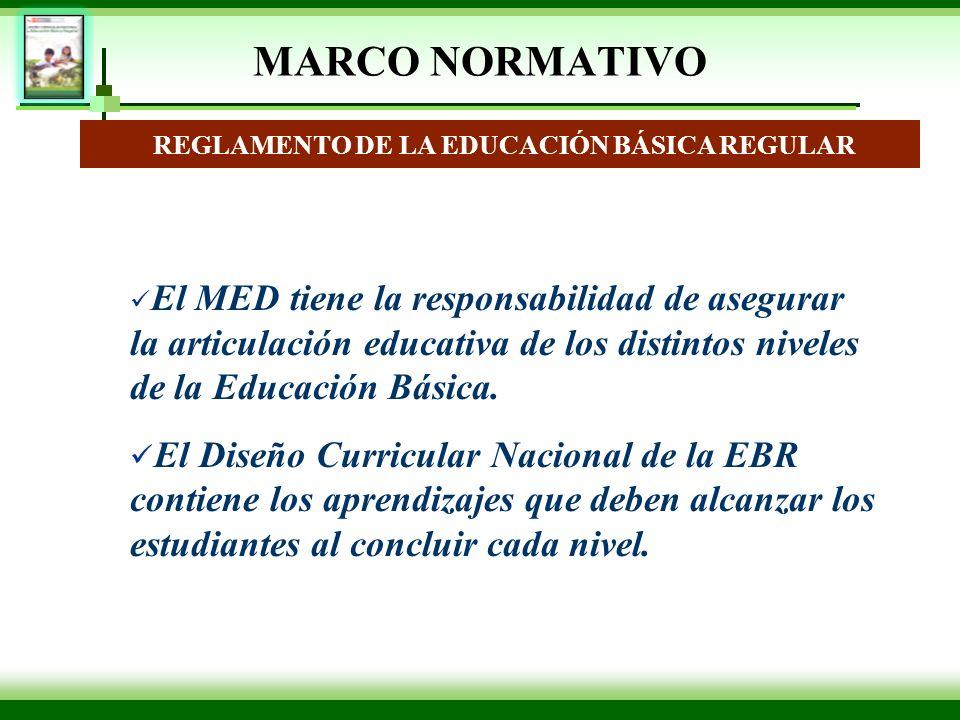REGLAMENTO DE LA EDUCACIÓN BÁSICA REGULAR