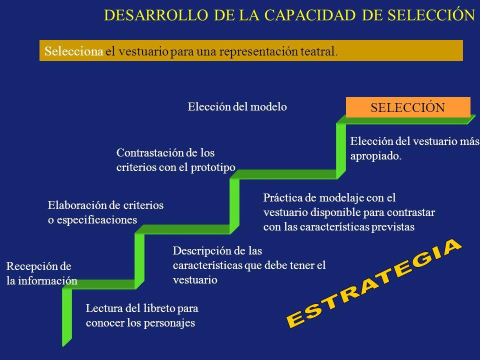 DESARROLLO DE LA CAPACIDAD DE SELECCIÓN