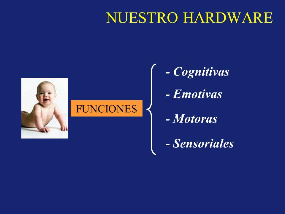 NUESTRO HARDWARE - Cognitivas - Emotivas - Motoras - Sensoriales