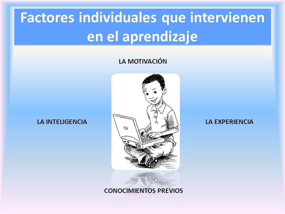 Factores individuales que intervienen en el aprendizaje