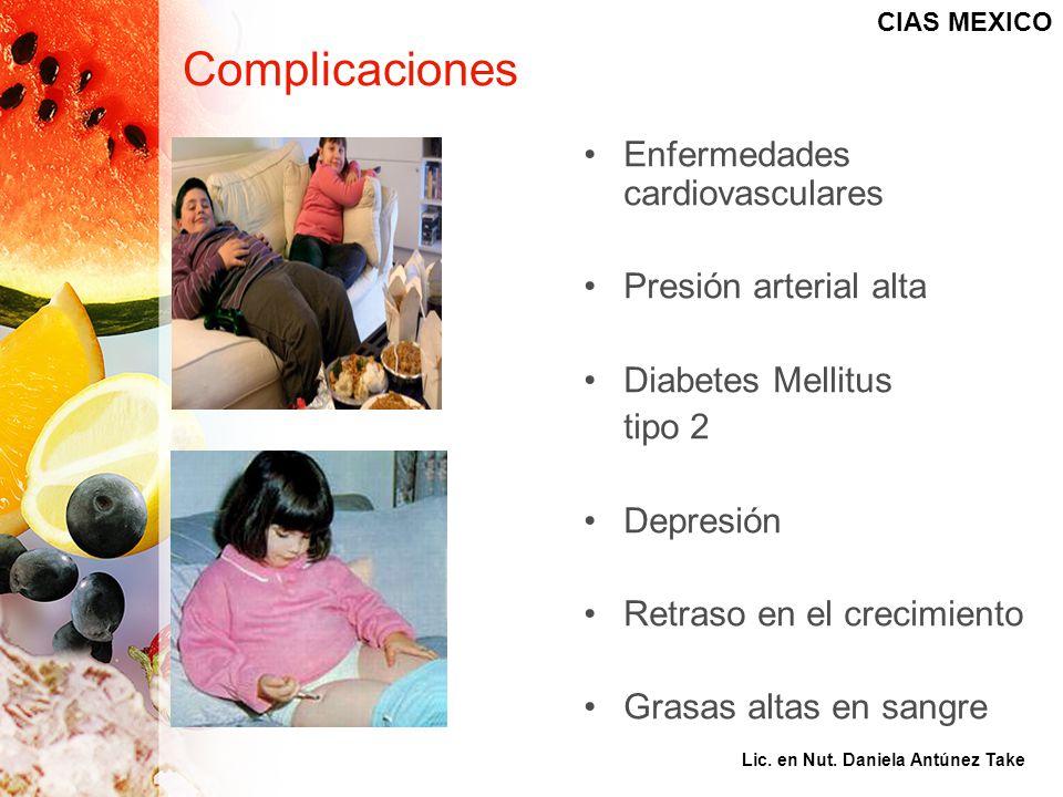 Complicaciones Enfermedades cardiovasculares Presión arterial alta