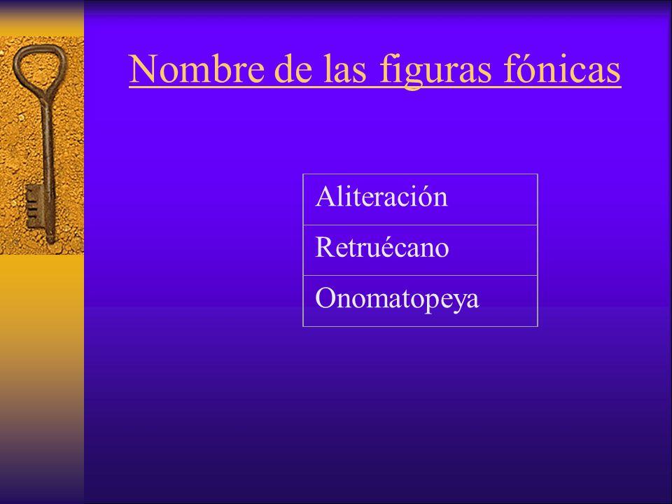 Nombre de las figuras fónicas