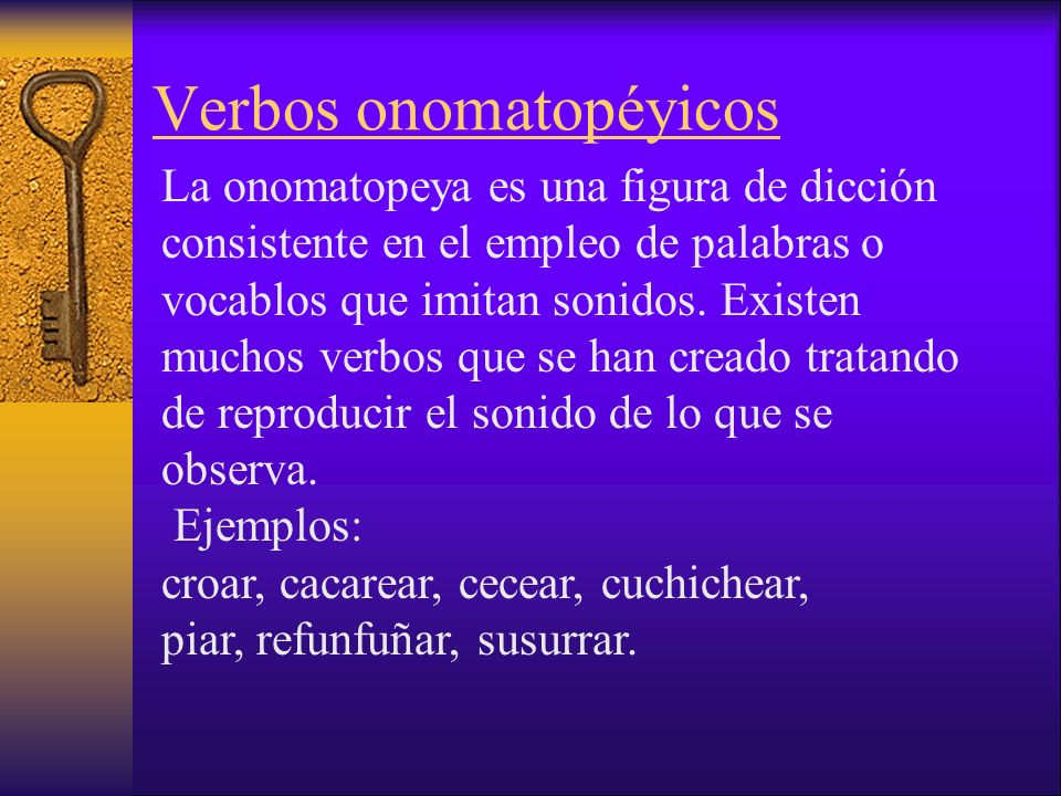 Verbos onomatopéyicos