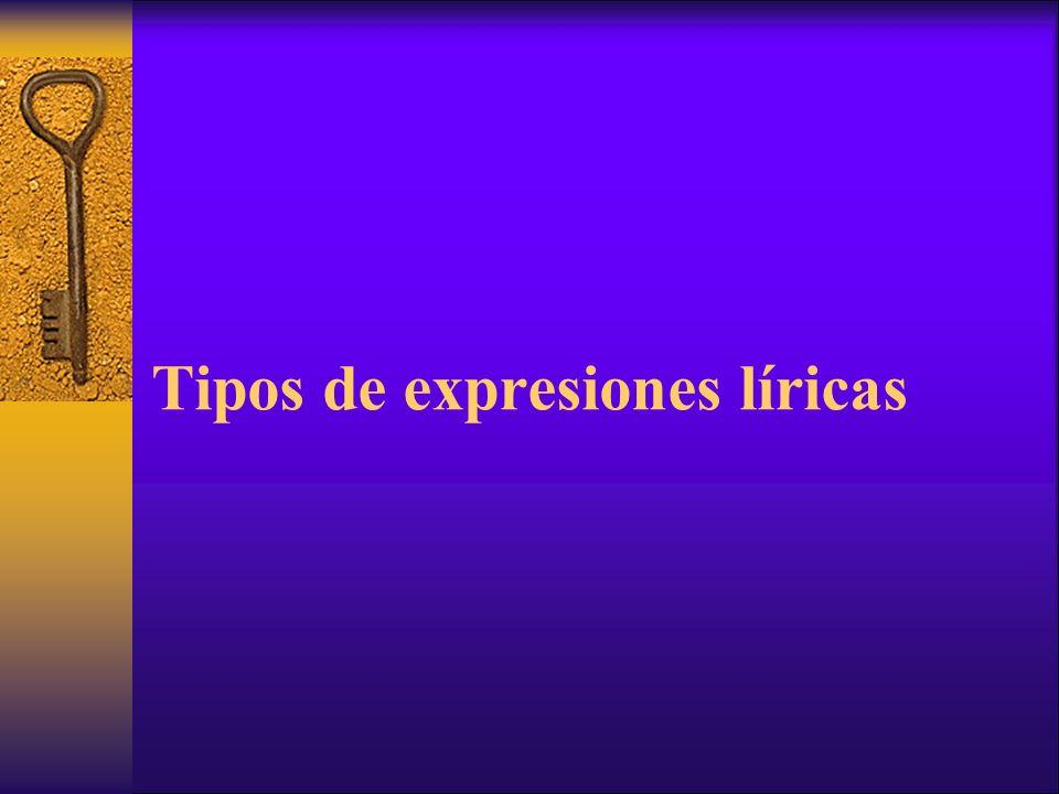 Tipos de expresiones líricas