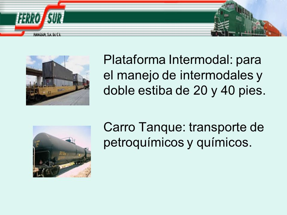 Plataforma Intermodal: para. el manejo de intermodales y