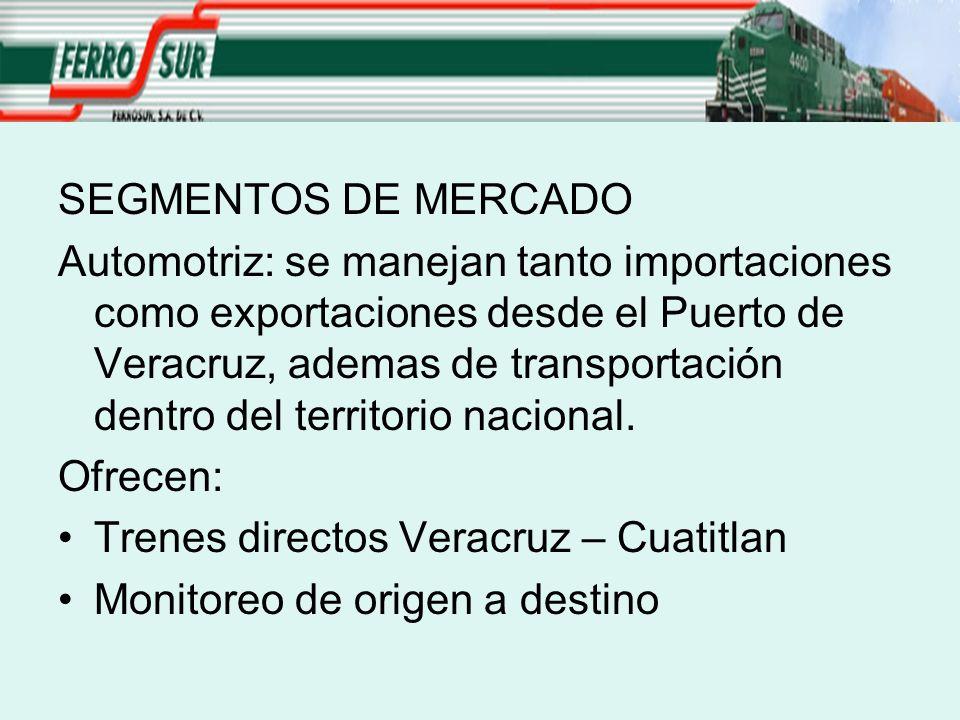 SEGMENTOS DE MERCADO