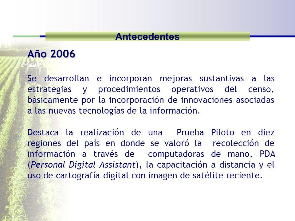 Antecedentes Año 2006.