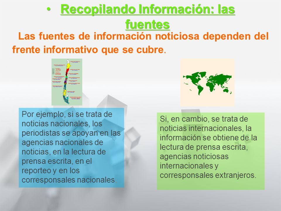 Recopilando Información: las fuentes