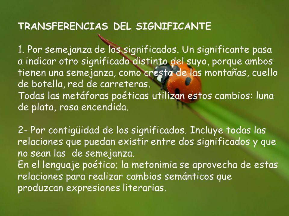 TRANSFERENCIAS DEL SIGNIFICANTE