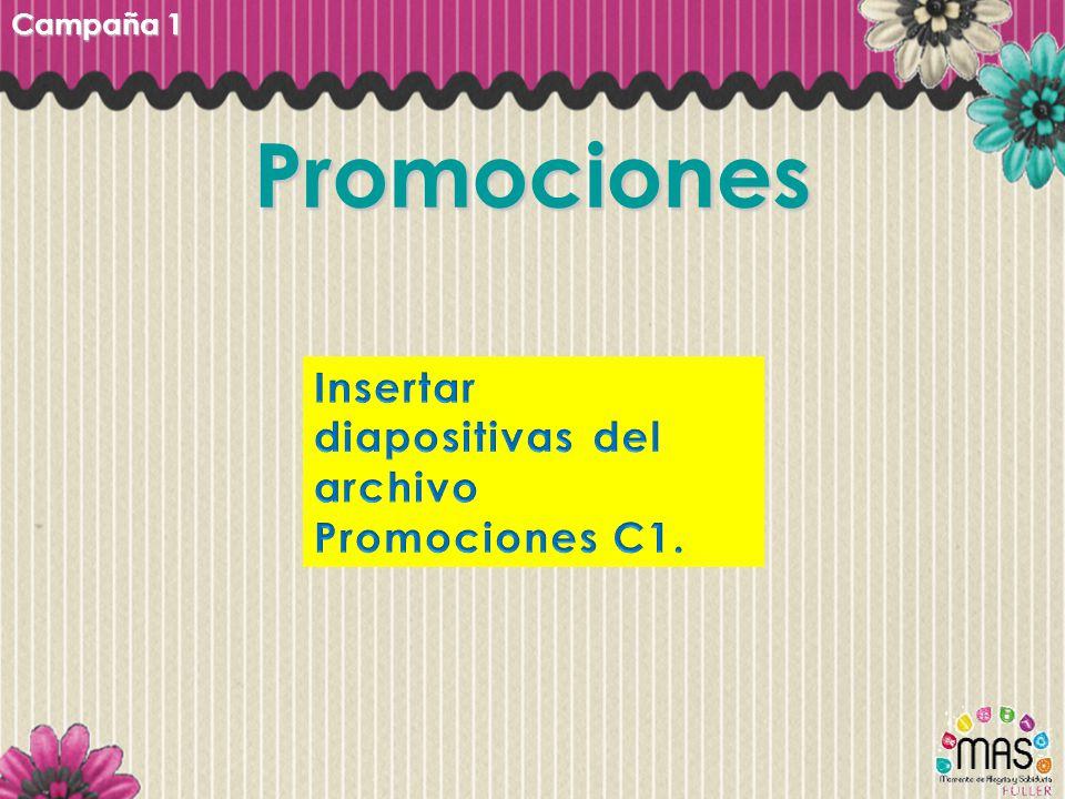 Promociones Insertar diapositivas del archivo Promociones C1.