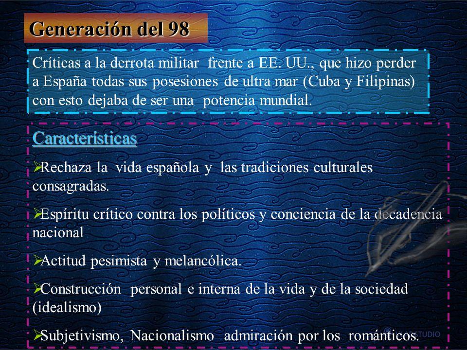 Generación del 98 Características