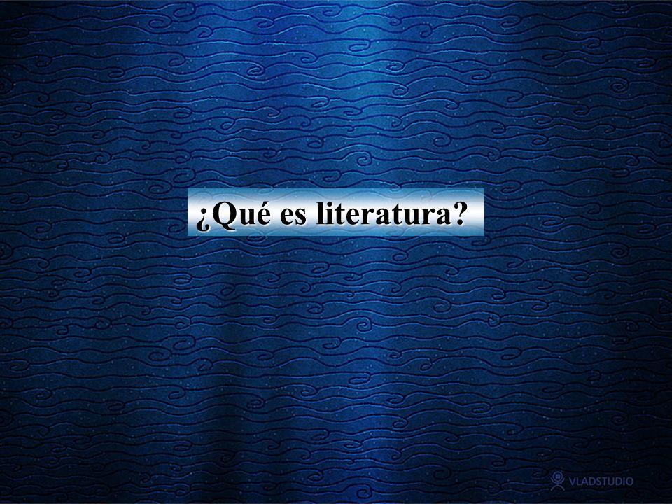 ¿Qué es literatura