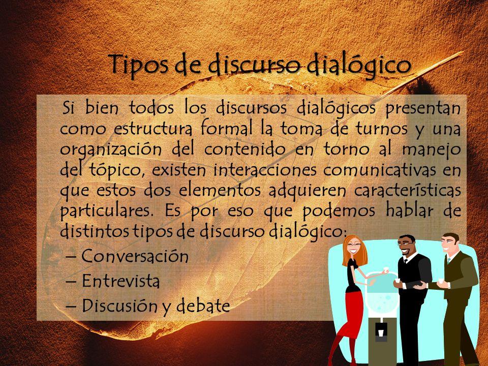Tipos de discurso dialógico