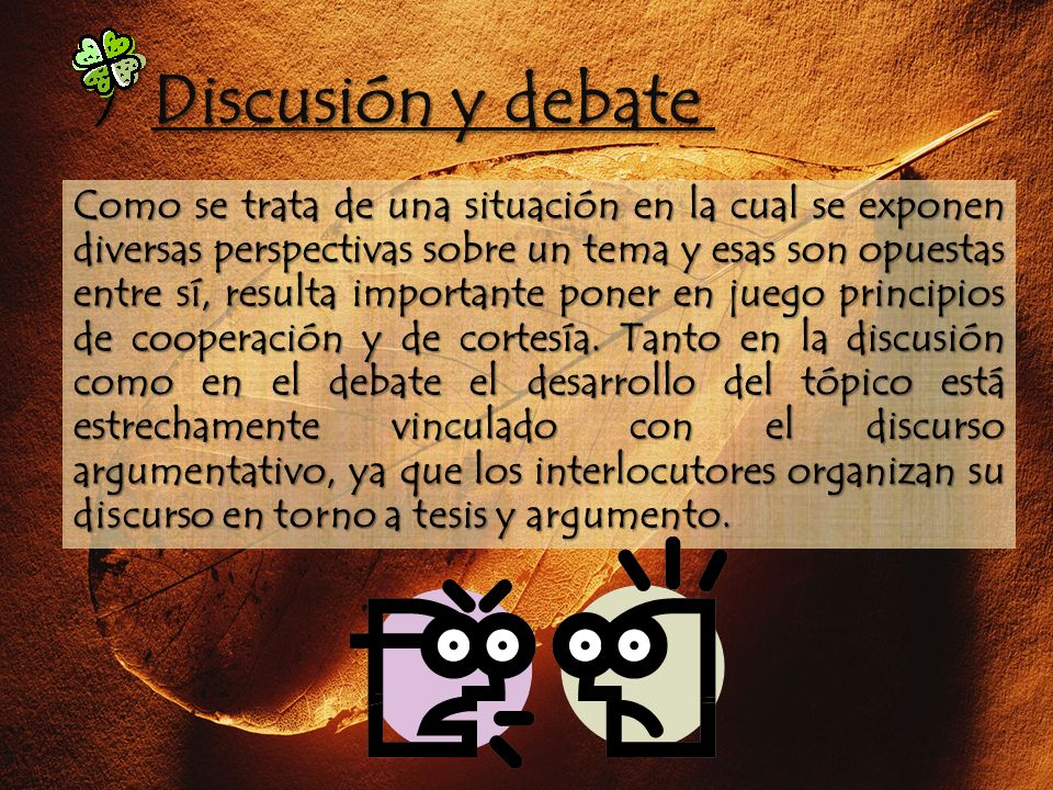 Discusión y debate