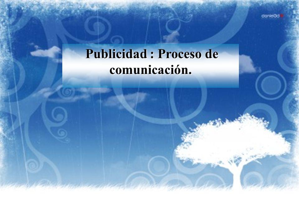 Publicidad : Proceso de comunicación.