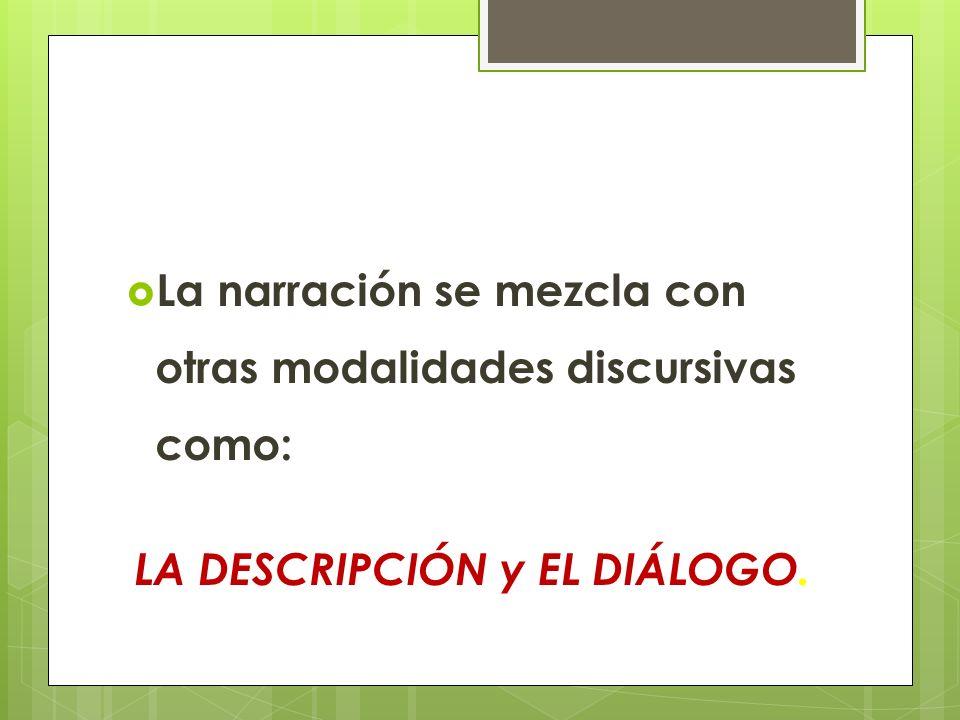 LA DESCRIPCIÓN y EL DIÁLOGO.