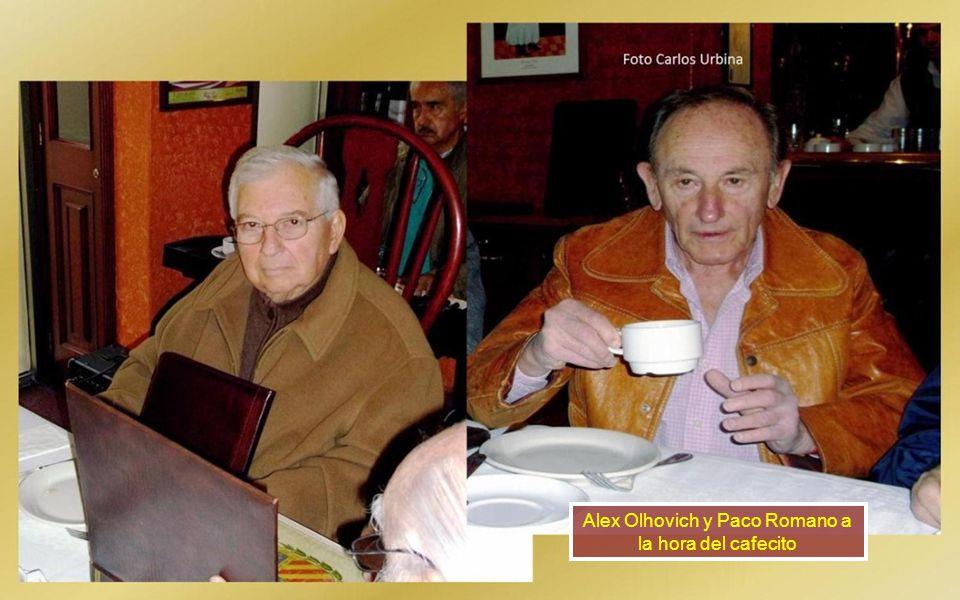 Alex Olhovich y Paco Romano a la hora del cafecito