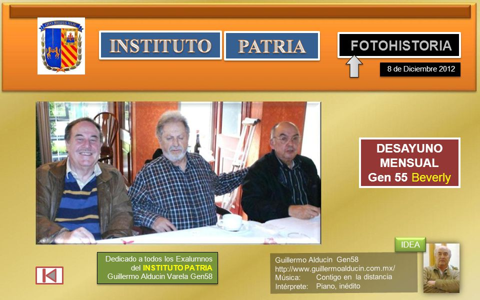 INSTITUTO PATRIA FOTOHISTORIA DESAYUNO MENSUAL Gen 55 Beverly IDEA