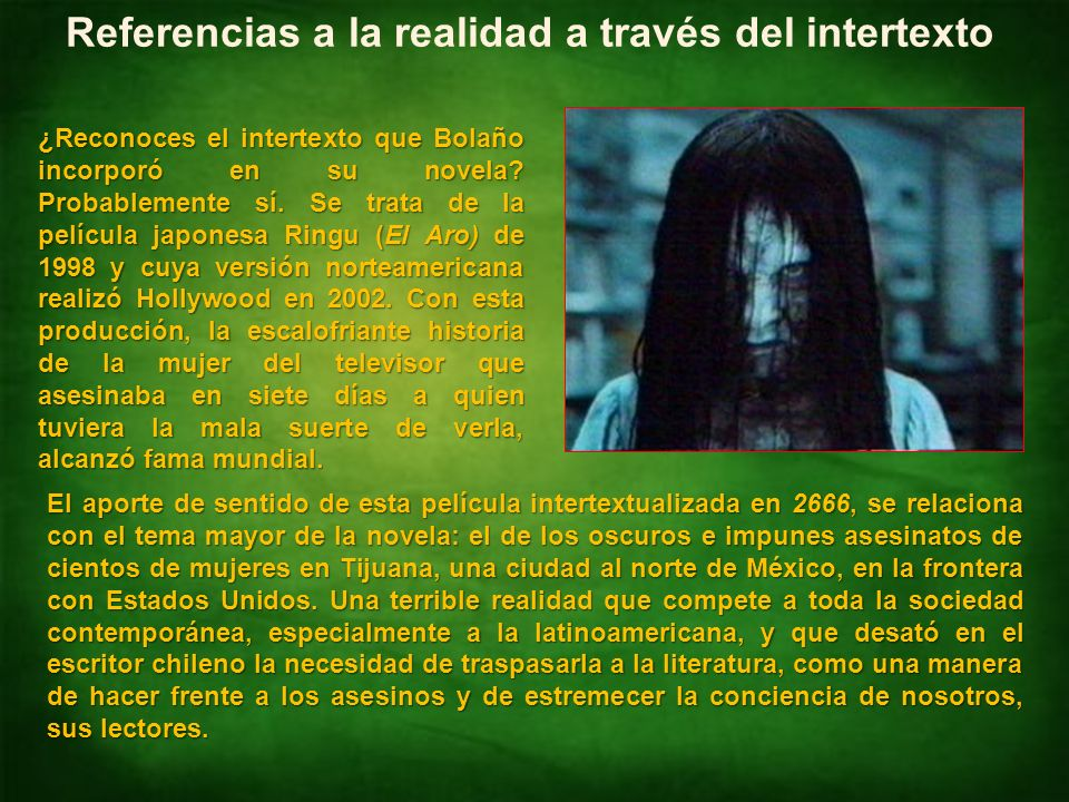 Referencias a la realidad a través del intertexto