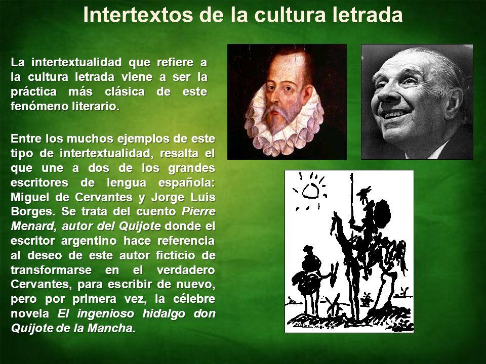 Intertextos de la cultura letrada