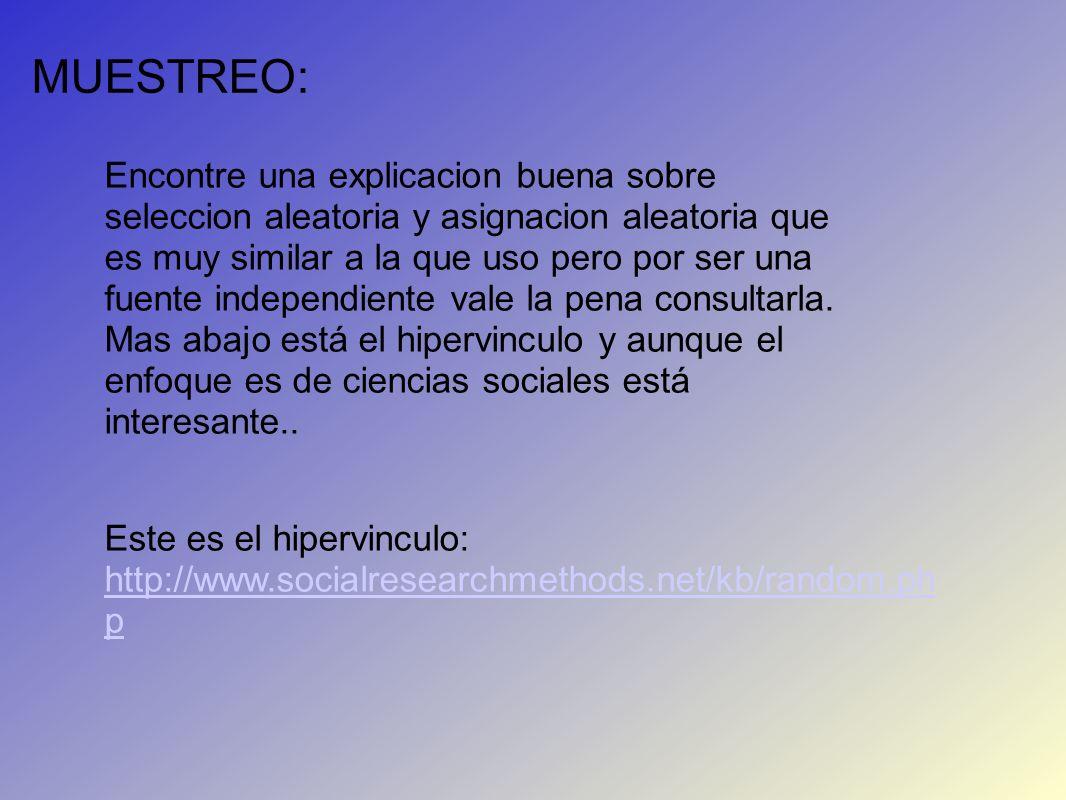 MUESTREO: