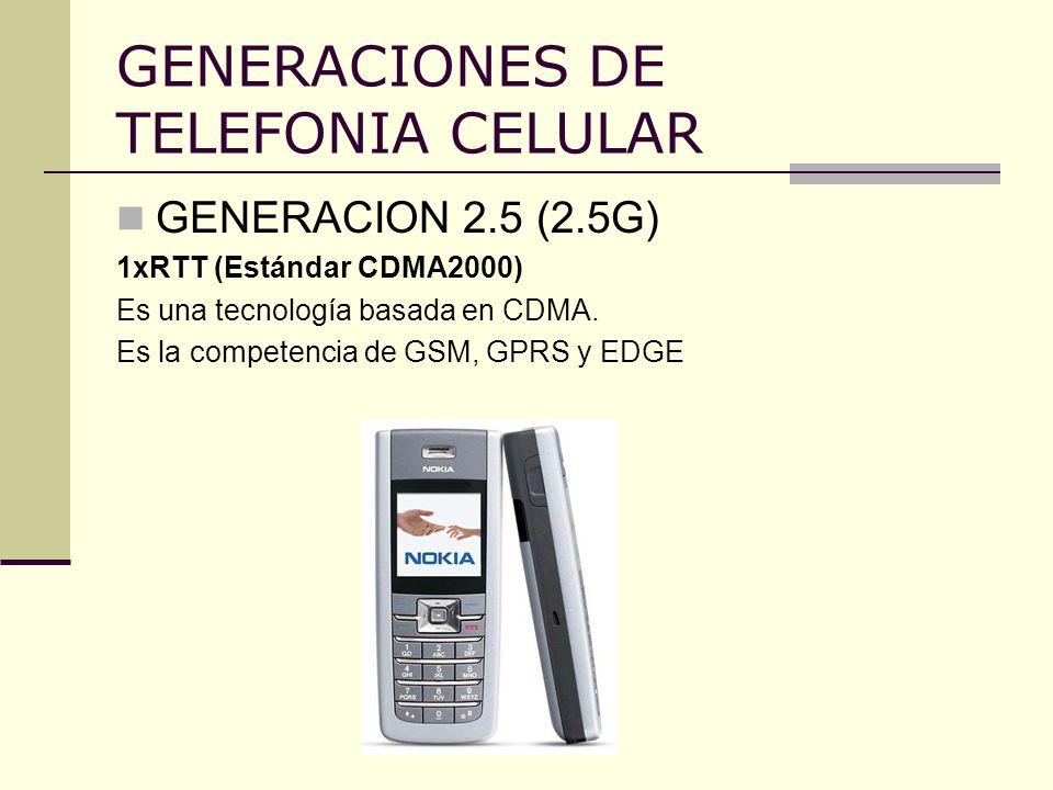 GENERACIONES DE TELEFONIA CELULAR