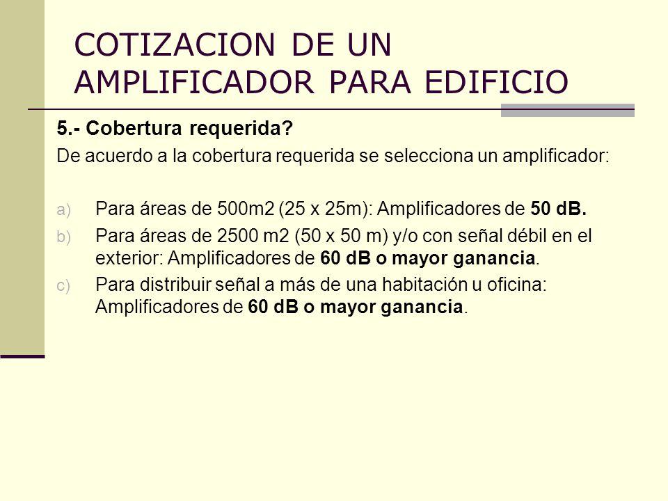 COTIZACION DE UN AMPLIFICADOR PARA EDIFICIO