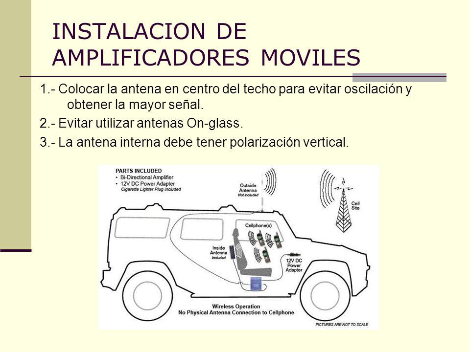 INSTALACION DE AMPLIFICADORES MOVILES