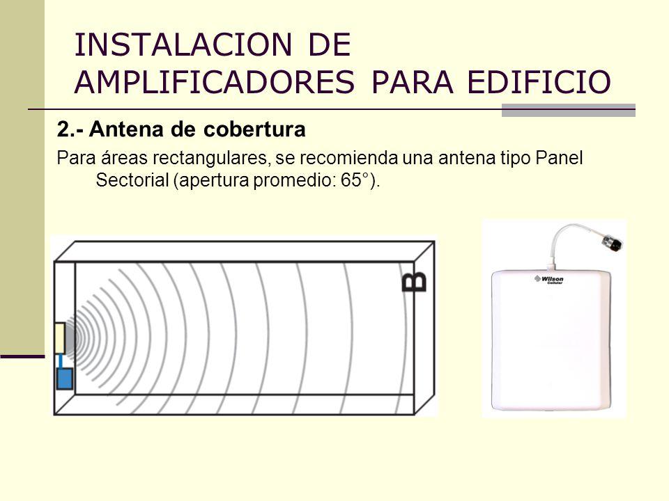 INSTALACION DE AMPLIFICADORES PARA EDIFICIO