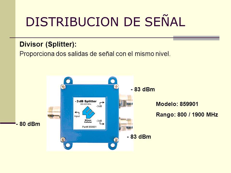 DISTRIBUCION DE SEÑAL Divisor (Splitter):