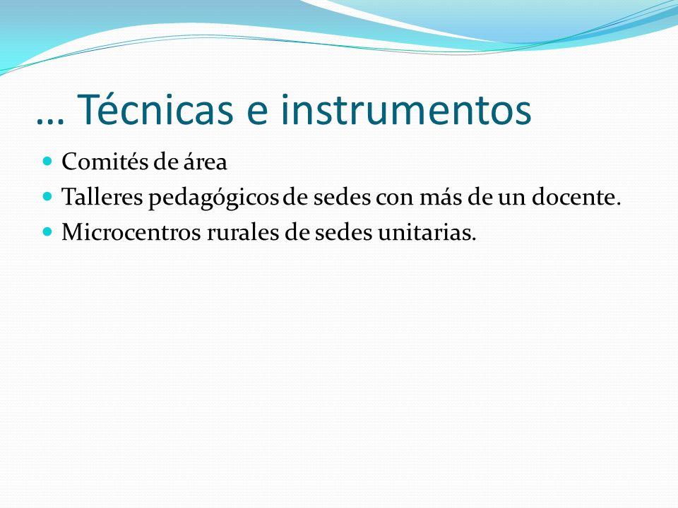 … Técnicas e instrumentos