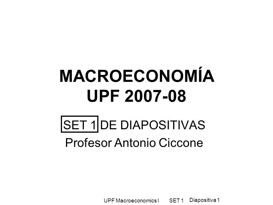 SET 1 DE DIAPOSITIVAS Profesor Antonio Ciccone