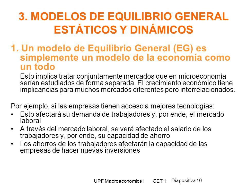 3. MODELOS DE EQUILIBRIO GENERAL ESTÁTICOS Y DINÁMICOS