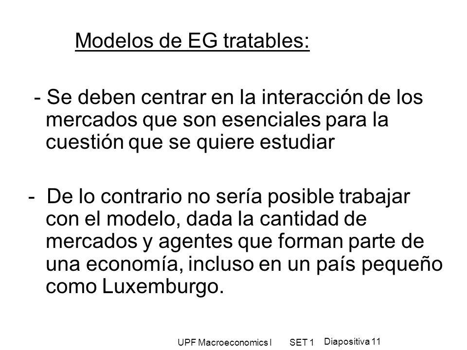 Modelos de EG tratables: