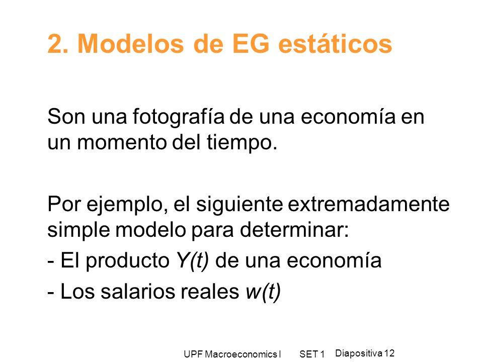 2. Modelos de EG estáticos
