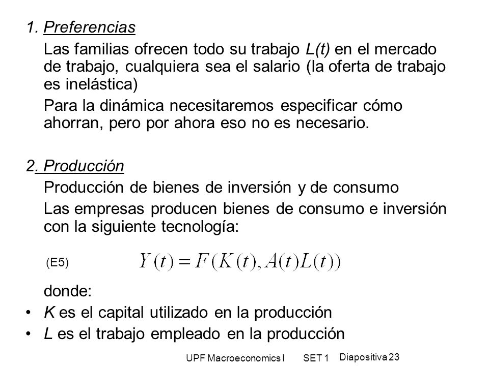 Producción de bienes de inversión y de consumo