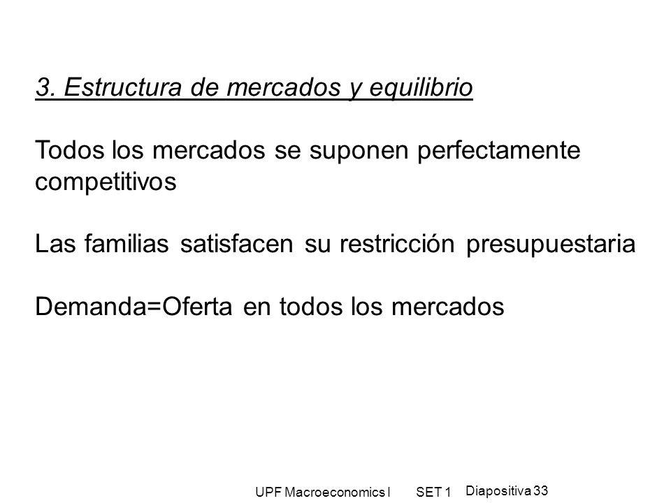 3. Estructura de mercados y equilibrio