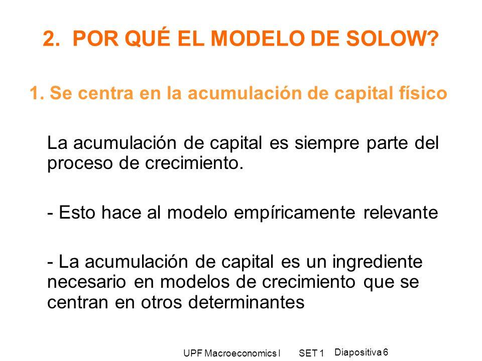 2. POR QUÉ EL MODELO DE SOLOW