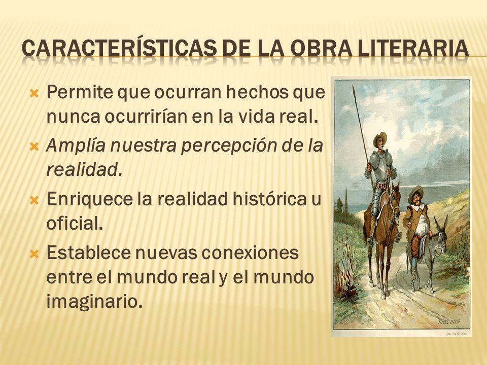 Características de la obra literaria