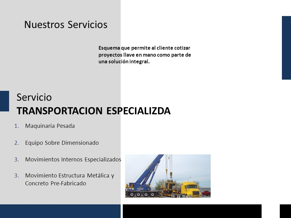 TRANSPORTACION ESPECIALIZDA