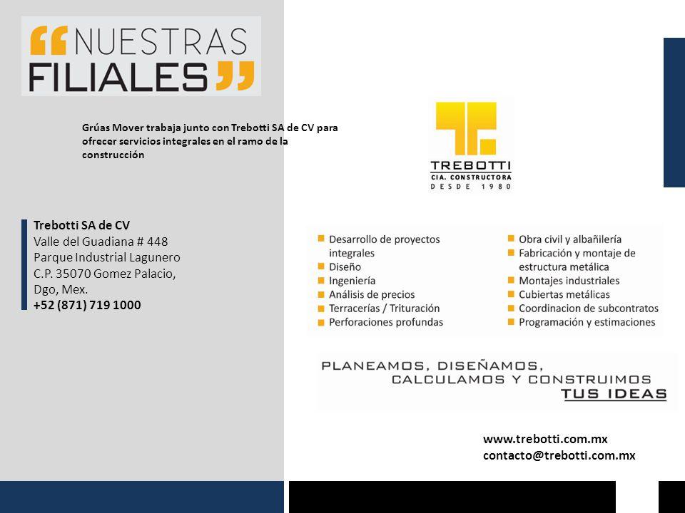 Parque Industrial Lagunero C.P. 35070 Gomez Palacio, Dgo, Mex.