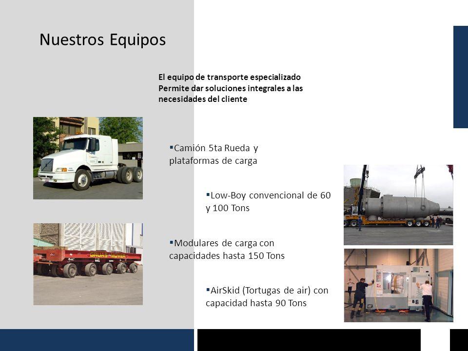Nuestros Equipos Camión 5ta Rueda y plataformas de carga