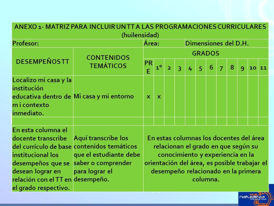 ANEXO 1- MATRIZ PARA INCLUIR UN TT A LAS PROGRAMACIONES CURRICULARES (huilensidad)