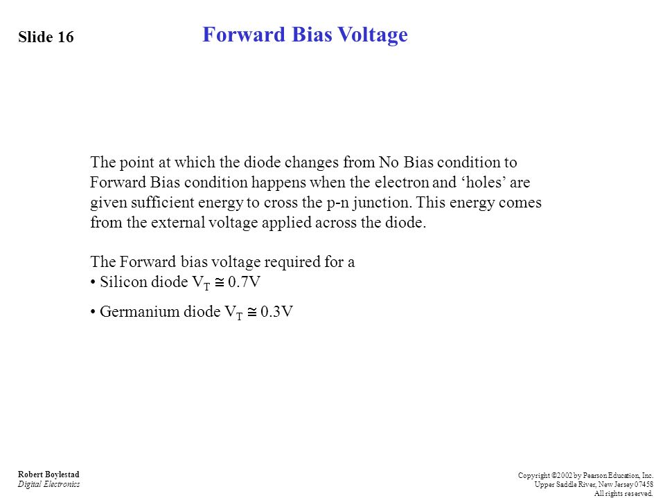 Forward Bias Voltage Slide 16